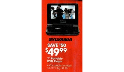 "Sylvania SDVD7015 7"" Portable DVD Player (Black)"