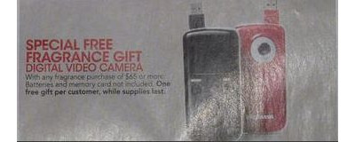 Buy Any $65 of Fragrance, Receive a Digital Video Camera FREE