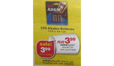 CVS Alkaline Batteries AA 4-Pk.