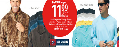 Reel Legends Fleece Jackets or Fleece Vests