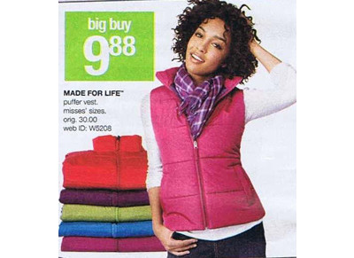 Made for Life Puffer Vest for Misses