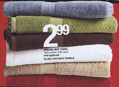 Special Buy 100-Percent Bottom Bath Towels