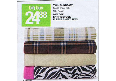 Twin Sunbeam Fleece Sheet Set