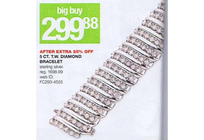 5 ct.tw. Diamond Bracelet in Sterling Silver