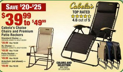 Cabela's Chaise Loungers Blue