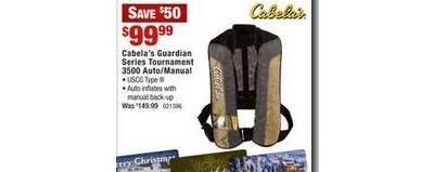 Cabela's Guardian Series Tournament 3500 Automatic/Manual Inflatable PFD