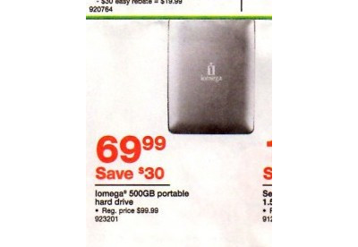 Iomega 500GB Portable Hard Drive
