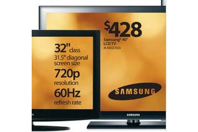 "Samsung 40"" Widescreen 1080p LCD TV"