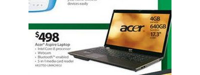 Acer Aspire Laptop with intel i5 processor, 4GB DDR3, 640GB HD