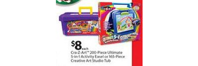 Cra-Z-Art 165-pc Creative Art Studio Tub