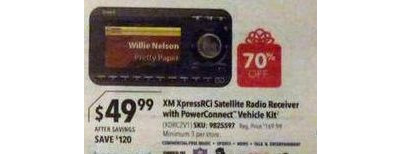 XM - XpressRCi Satellite Radio Receiver with PowerConnect Vehicle Kit