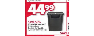 Fellowes Powershred P-57Cs 8-Sheet Confetti-Cut Shredder