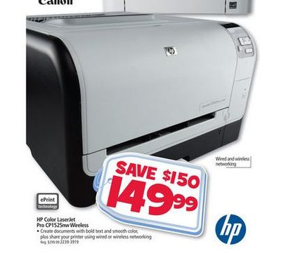 HP LaserJet CP1525nw Color Printer