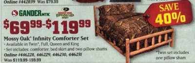 Gander Mountain Mossy Oak Infinity Comforter Set (Twin) (Thursday Only)  $69.99-119.99