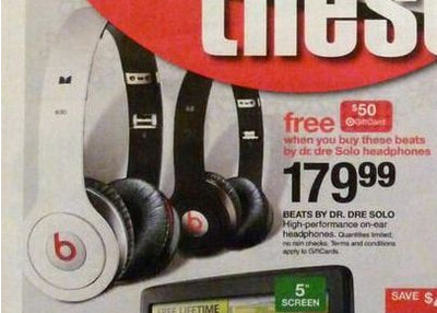 Beats by Dr. Dre Beats Solo Headphones w/ ControlTalk - White (w/ Free $50 Target Gift Card)