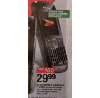 Motorola i465 Pre-Paid Cell Phone for BOOST Mobile with Bluetooth- Gray/ Red