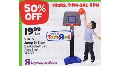 Stats Jump N Slam Basketball Set