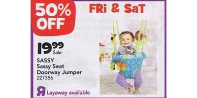 Sassy Seat Doorway Jumper 50% Off!