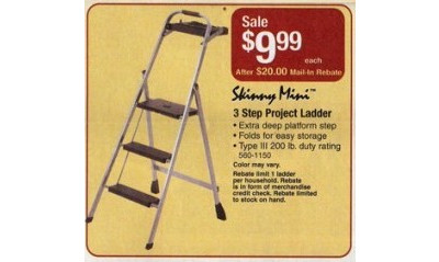 Skinny Mini 3 Step Project Ladder