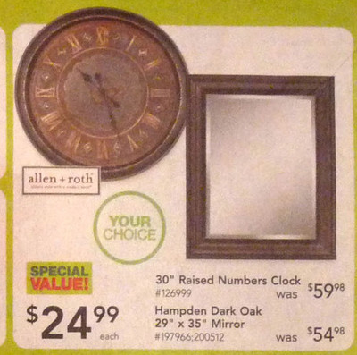 "Style Selections 29"" x 35"" Hampden Beveled Mirror"