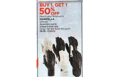 Manzella Women's Gloves - B1G1 50% Off
