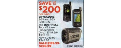 Skycaddie SGX Golf GPS   - $200 off
