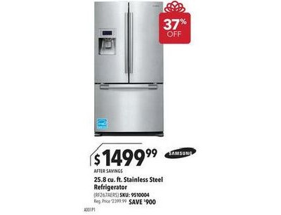 Samsung - 25.8 Cu. Ft. French Door Refrigerator with Thru-the-Door Ice and Water - Stainless-Steel