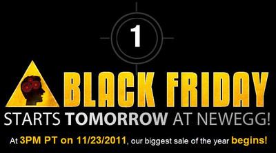 Newegg Black Friday starts at 3PM PT on 11/23/2011