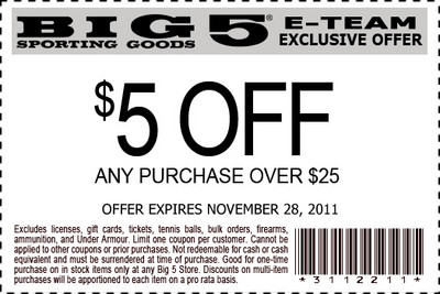 $5 off Any Purchase Over $25