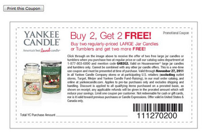 Buy 2 Get 2 FREE on Large Jar and Tumbler candles (Online code Q4B2G2)