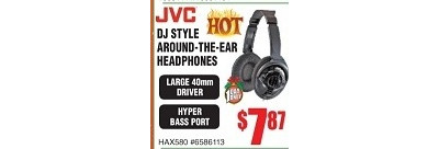 JVC DJ Style Around The Ear Headphones