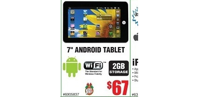 "7"" Android WiFi 2GB Tablet"