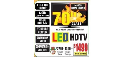 "Sharp 70"" LC-70LE632U 1080p 120Hz LED HDTV"
