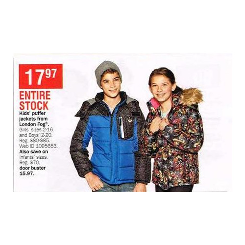 London Fog Infants Puffer Jackets