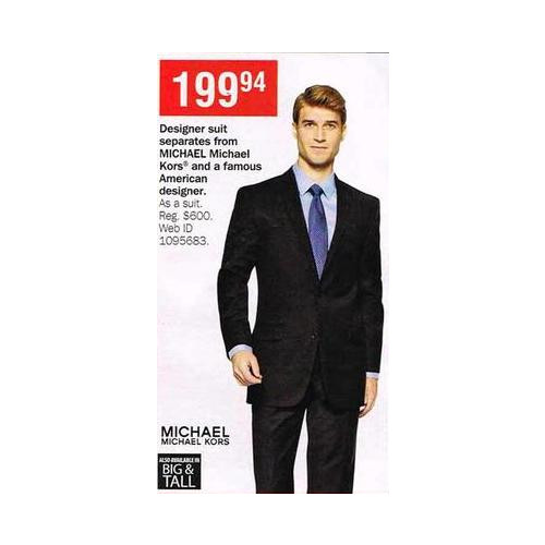 Michael Kors Big & Tall Designer Suit Shirts