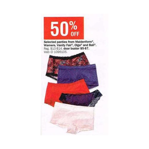 Vanity Fair Panties 50% OFF