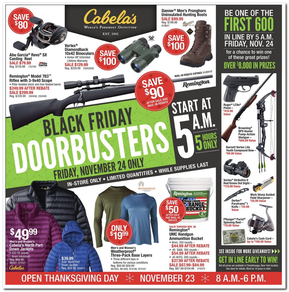 Cabela's Black Friday 2018 Ads and Deals
