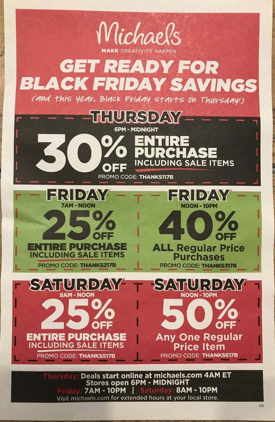 Michaels Black Friday 2018 Ads and Deals
