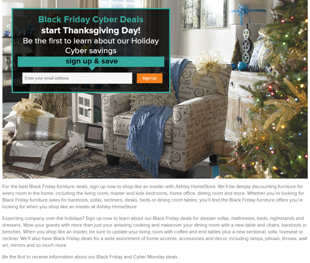 Ashley Furniture Black Friday 2018 Ad, Deals & Sales
