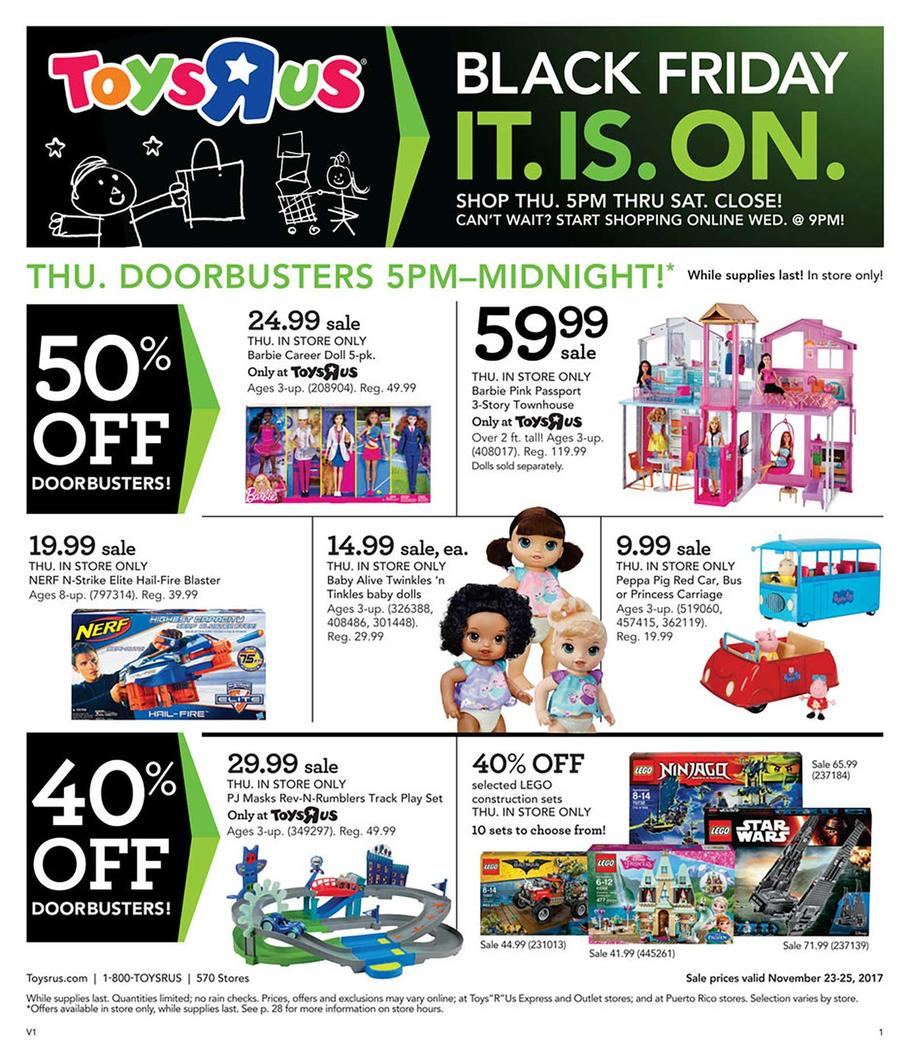 Toys R Us Black Friday 2018 Ads and Deals