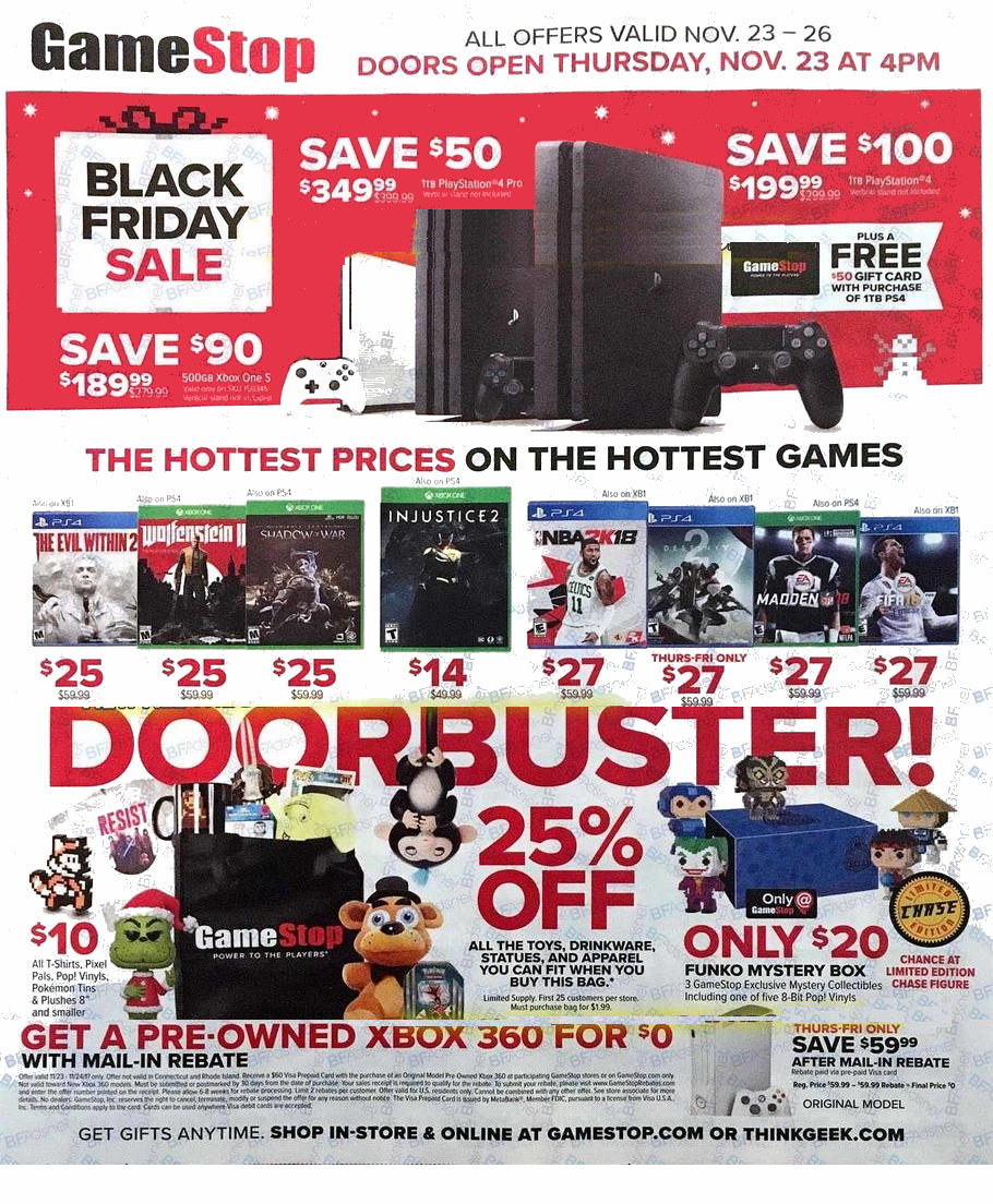 Gamestop Black Friday 2018 Ads and Deals