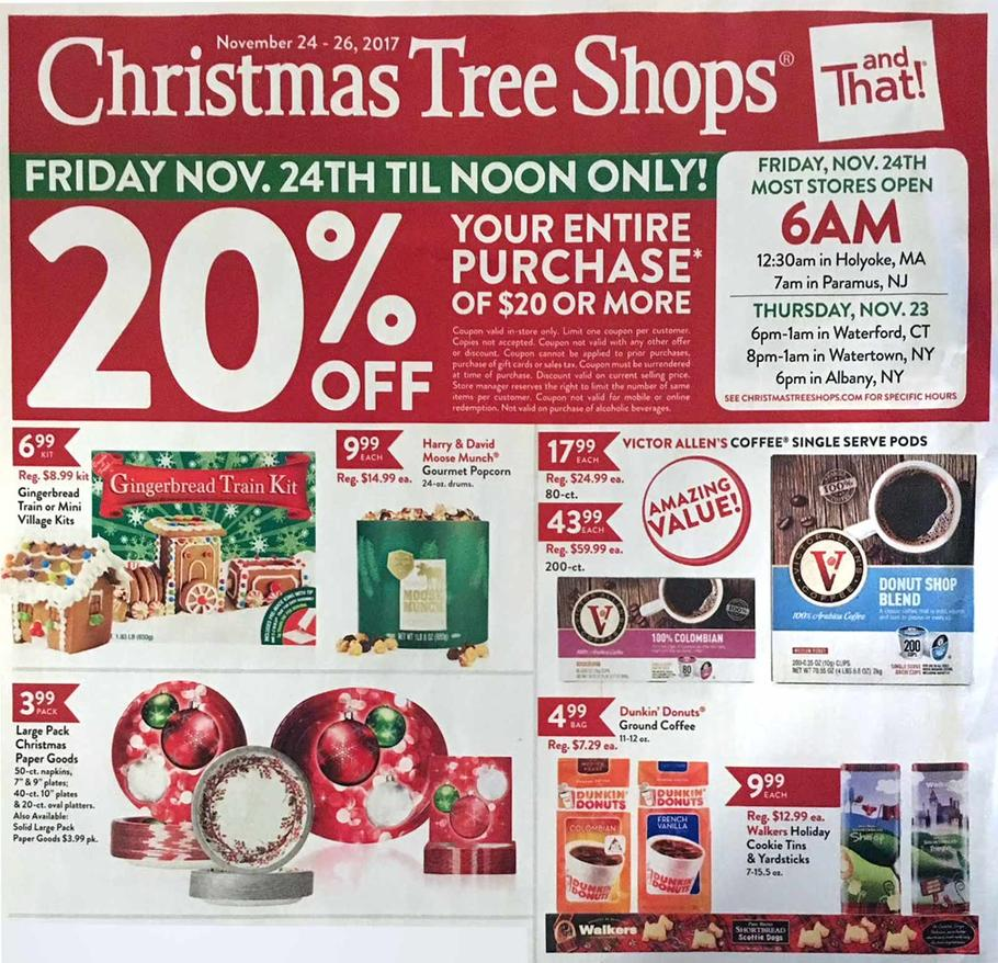 Black Friday Christmas Tree Deals 2019.Christmas Tree Shops Black Friday 2018 Ad Sales Deals