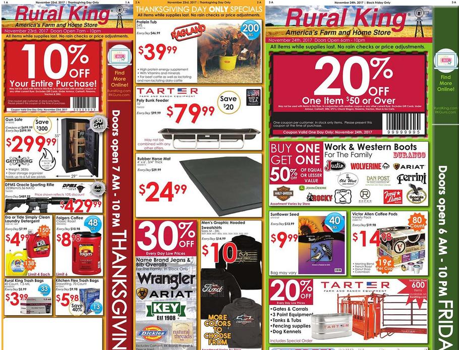 Rural King Black Friday Ad Scan 2018