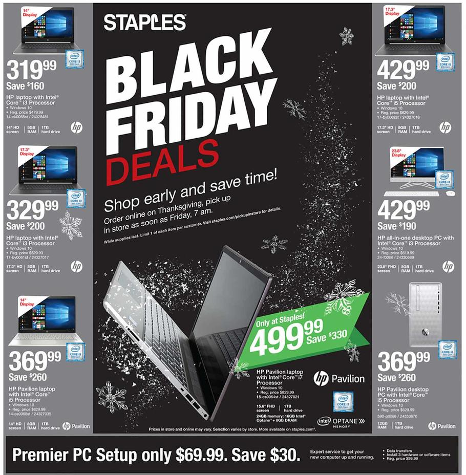 Staples's Black Friday 2018 Adscan, page 1