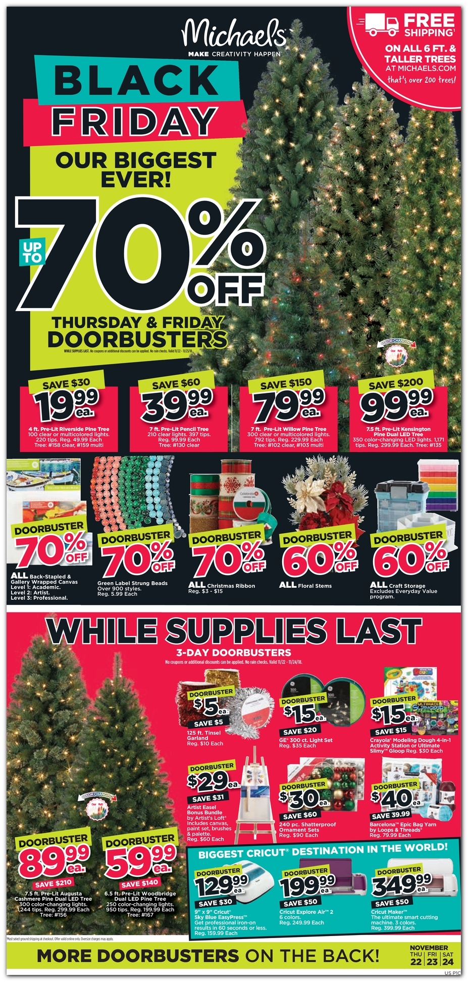 Black Friday Christmas Tree Deals 2019.Michaels Black Friday 2018 Ad Sales Deals Dealsplus