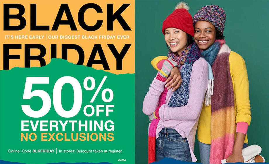 Gap's Black Friday 2018 Adscan, page 1