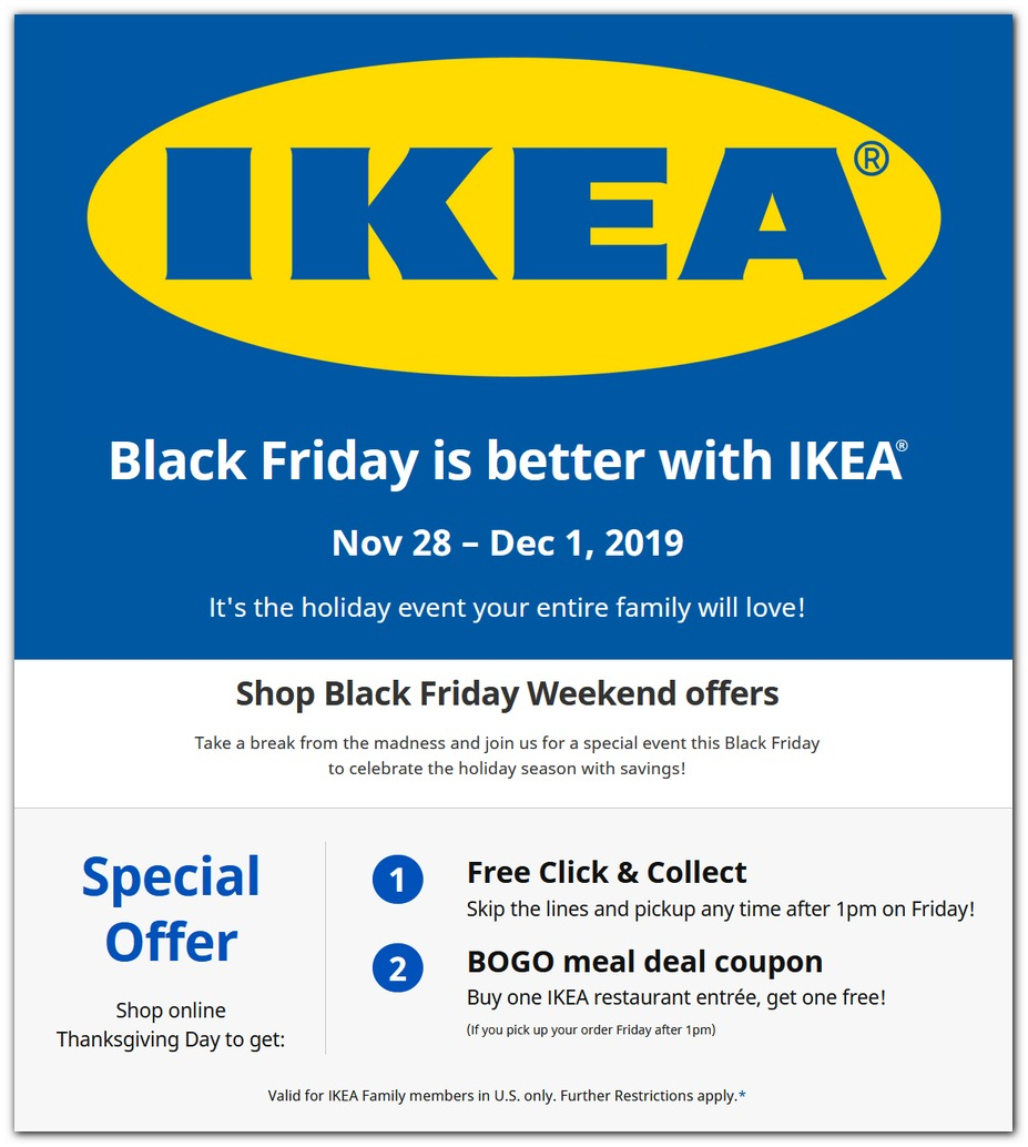 Ikea Black Friday Sale 2020 Deals Ad Dealsplus