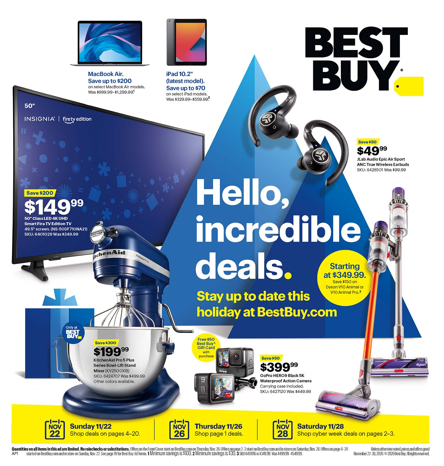 Best Buy's Black Friday 2020 Adscan, page 1