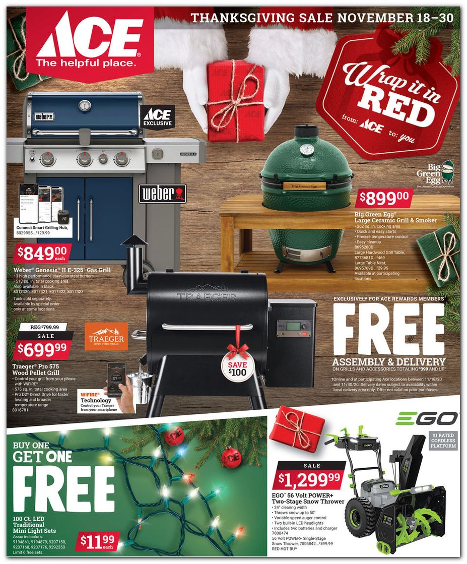 Ace Hardware's Black Friday 2020 Adscan, page 1