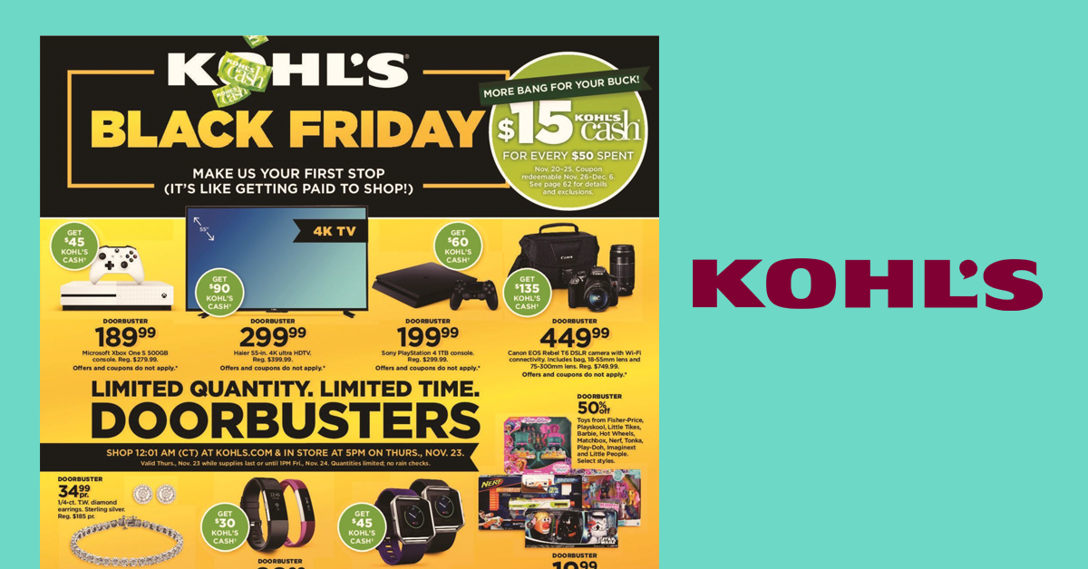 photo relating to Blockbuster Printable Coupon known as Up grade: Kohls Black Friday Sale is Are living! Watch the Kohls